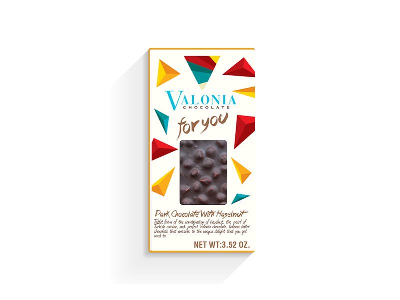 Dark Chocolate with Hazelnut - 100g